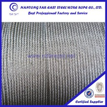 china supplier offer free samples for galvanized 6*37,used ship rope
