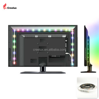 LED ambient TV back home light with color changing bias lighting usb port