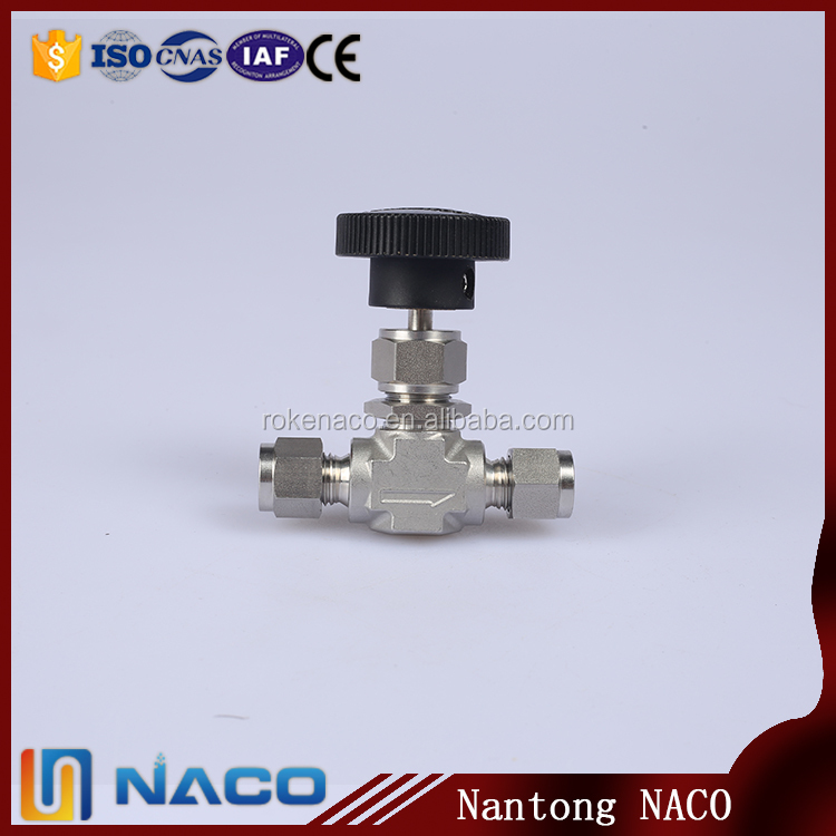 Stainless Steel Double Ferrule Needle Type Gas Cylinder Valve