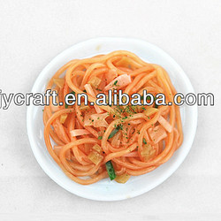handmade creative mini fake pasta noodles plate food model for artificial fridge magnet as promotion gift items