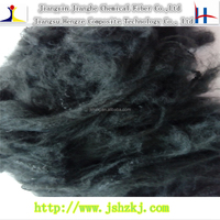1.5D*38mm black recycle dyed solid polyester staple fiber