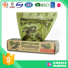 2015 biodegradable recycled dog poop bag at factory price