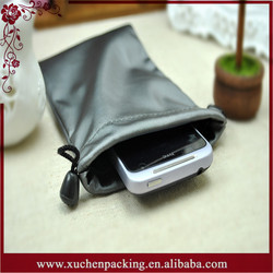 Hotsale Wholesale Grey Small Drawstring Waterproof Phone Bag for Packaging