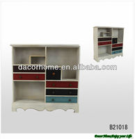 Vintage Colorful Wood Kitchen Cabinet Design