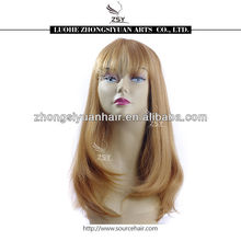 Hot selling top quality popular newly style high quality wigs synthetic red white blue