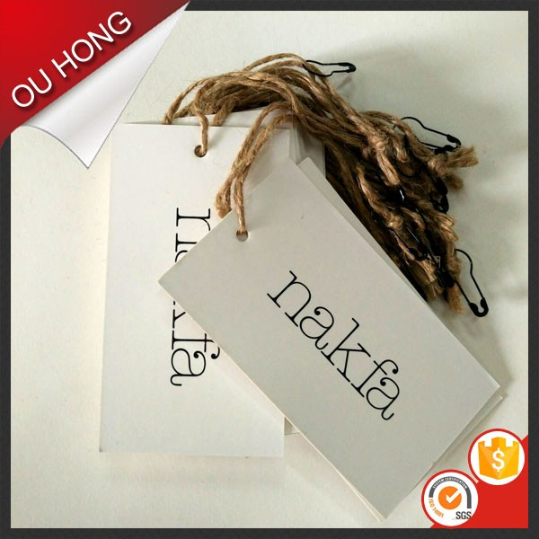 Brand Design Thick Cardboard Custom Paper Garment Hang Tags