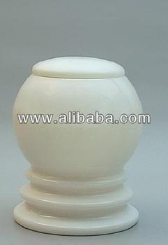 WHITE MARBLE Cremation Urn