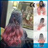 New!Gray and Rose Pink Ombre Awesome Hair Dye Wig Half Hand Made Synthetic Lace Front Wig Heat Resistant Tow Toned Lace Wig
