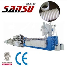 PVC corrugated pipe making machine extrusion production line