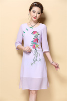 Cheap And Beautiful Factory Price Floral Dress and embroidered dress