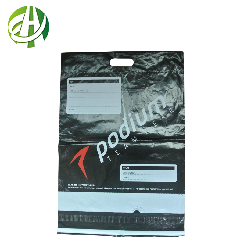 Good quality factory price courier plastic bags clear plastic tote bags handle plastic bags