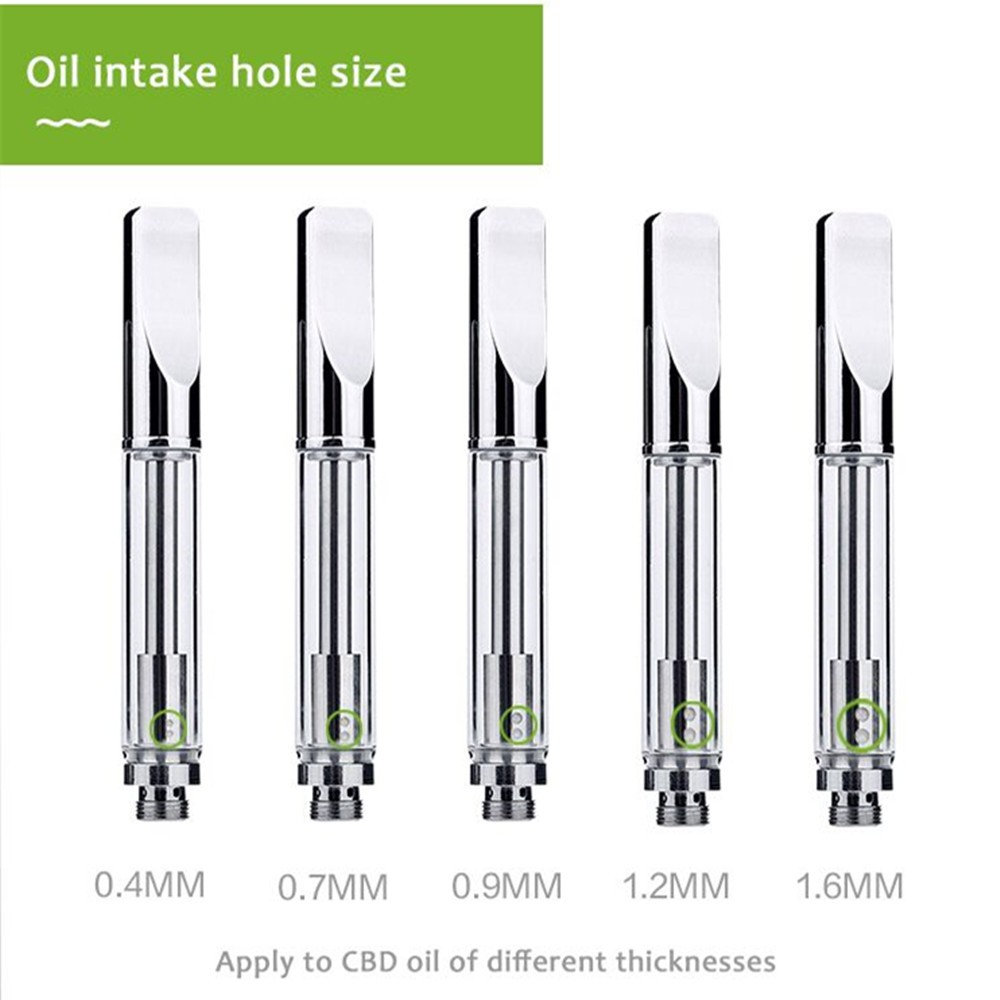 Best Sale Patant CBD Vaporizer 510 CBD Oil Atomizer 92A3 with .4/.7/.9/1.2/1.6mm Hole Size