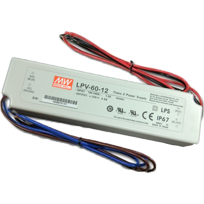 IP67 AC/DC DC12V DC24V 150W power supply CE ROHS LED driver for led transformer