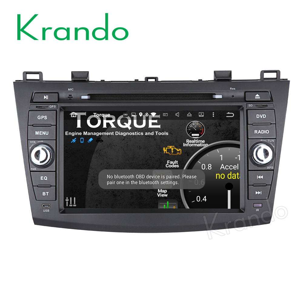 Krando Android 6.0 Car radio multimedia for mazda 3 2009-2013 in dash car dvd gps system wifi 4g lte 2G RAM BT KD-MZ380