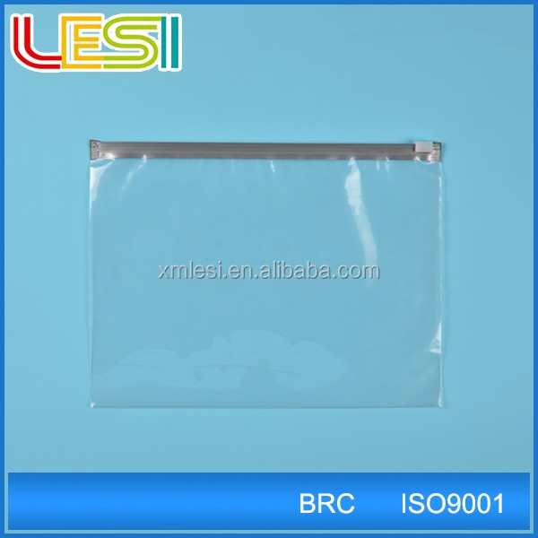 top quality resealable Document file Packing plastic clear Zipper Bag