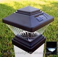 Outdoor Garden Solar LED Post Deck Cap Square Solar Fence Post Lights