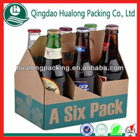 corrugated 6 bottle beer carrier with custom logo