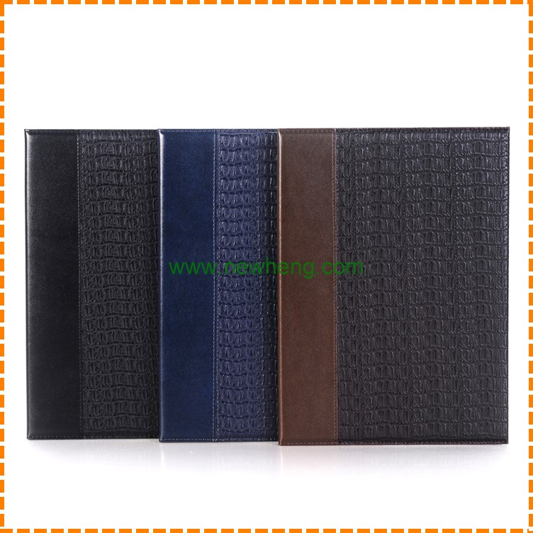 "Hot Sale Double color Crocodile Texture Stand pu leather case for ipad pro 12.9"" with Card slot"