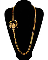 scorpion gold long chain necklace