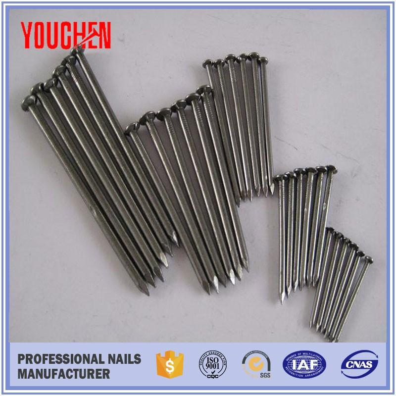 Raw material iron flat round wire common nail building nails/ top nail supply