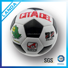 promotional official size 5 4 3 PVC machine sititched football soccer ball