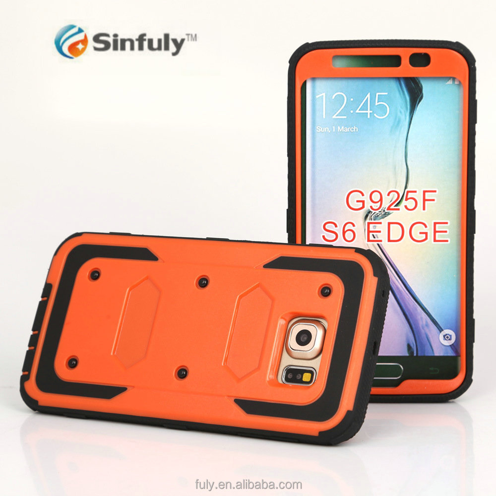 Rugged Heavy Duty Cover Armor Shell Shock Reduction Case for Samsung Glaxy S6 edge