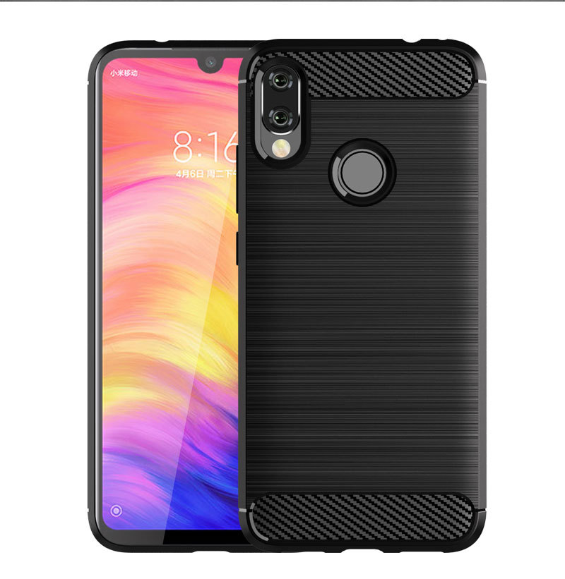 Cheap <strong>Phone</strong> Case For Xiaomi Red Mi Note 7 Carbon Fiber Case For Redmi Note 7 ShockProof Case