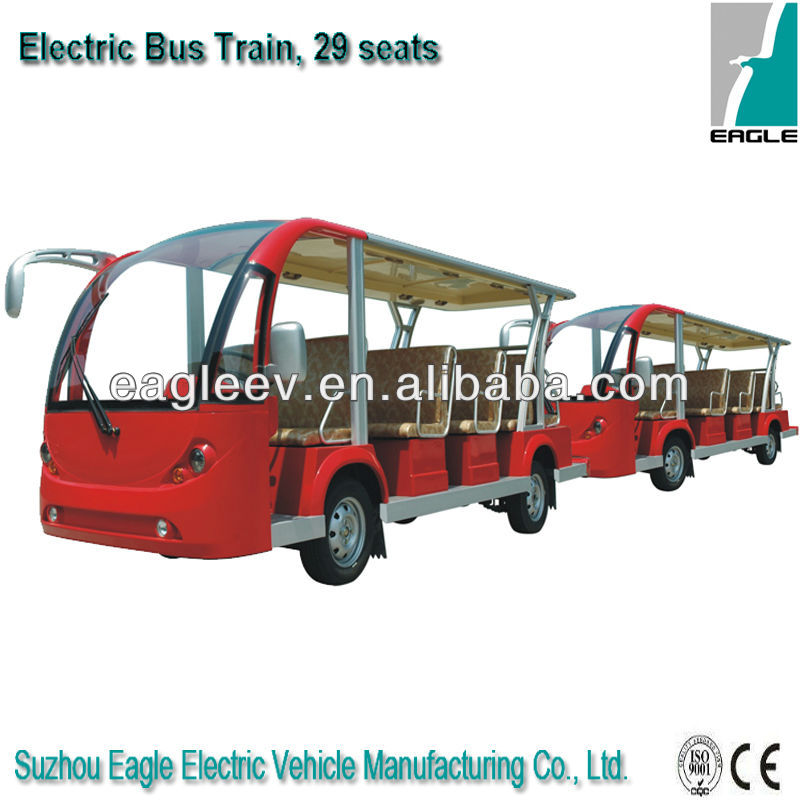 Electric shuttle bus with trailer, 29 persons, CE approved