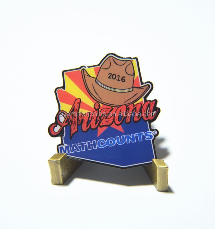 2016 High quality newest design printed custom trading pins in China