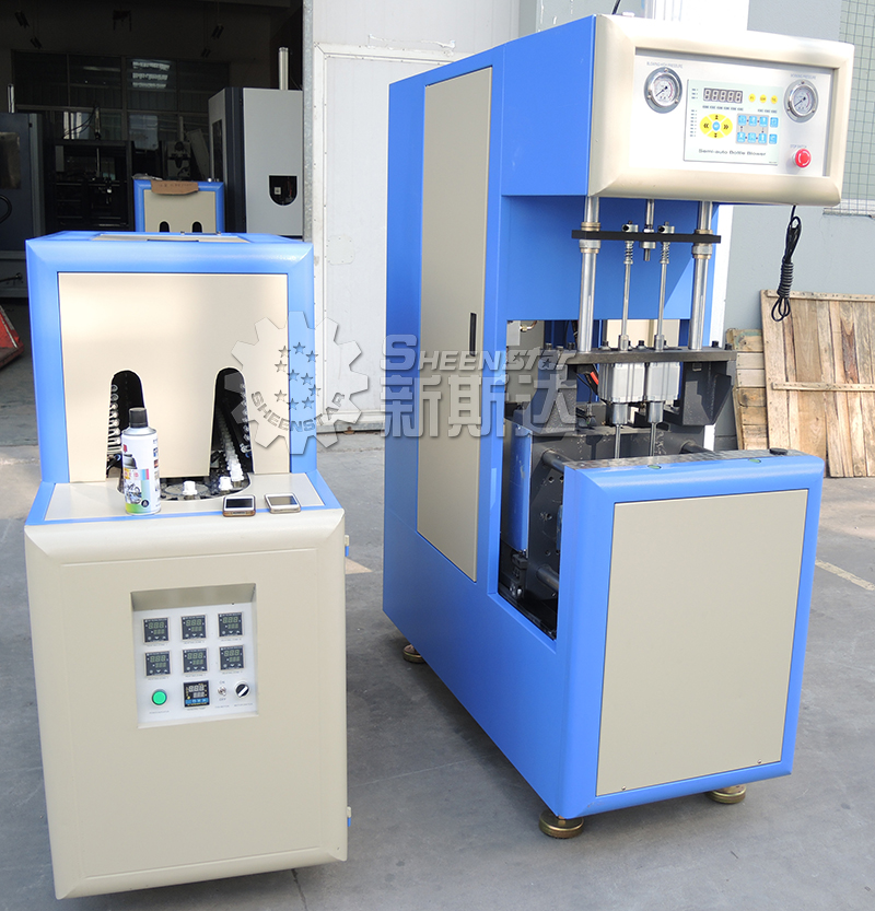Customer Made Semi Automatic PET / Plastic Bottle Blowing Machine