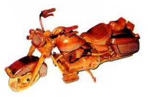 Wooden decorative models - Motorbike