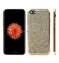 new arrival Electroplate Rock Jelly Diamond TPU case For iPhone 7