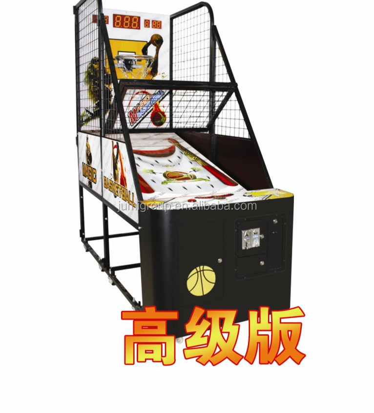 Top grade amusement coin operated indoor simulator shooting street basketball /arcade electronic game machine for sale