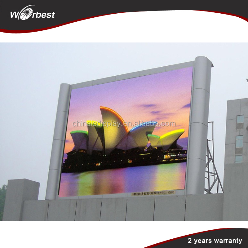 Alibaba china ShenZhen display electronics p10 full color outdoor led display