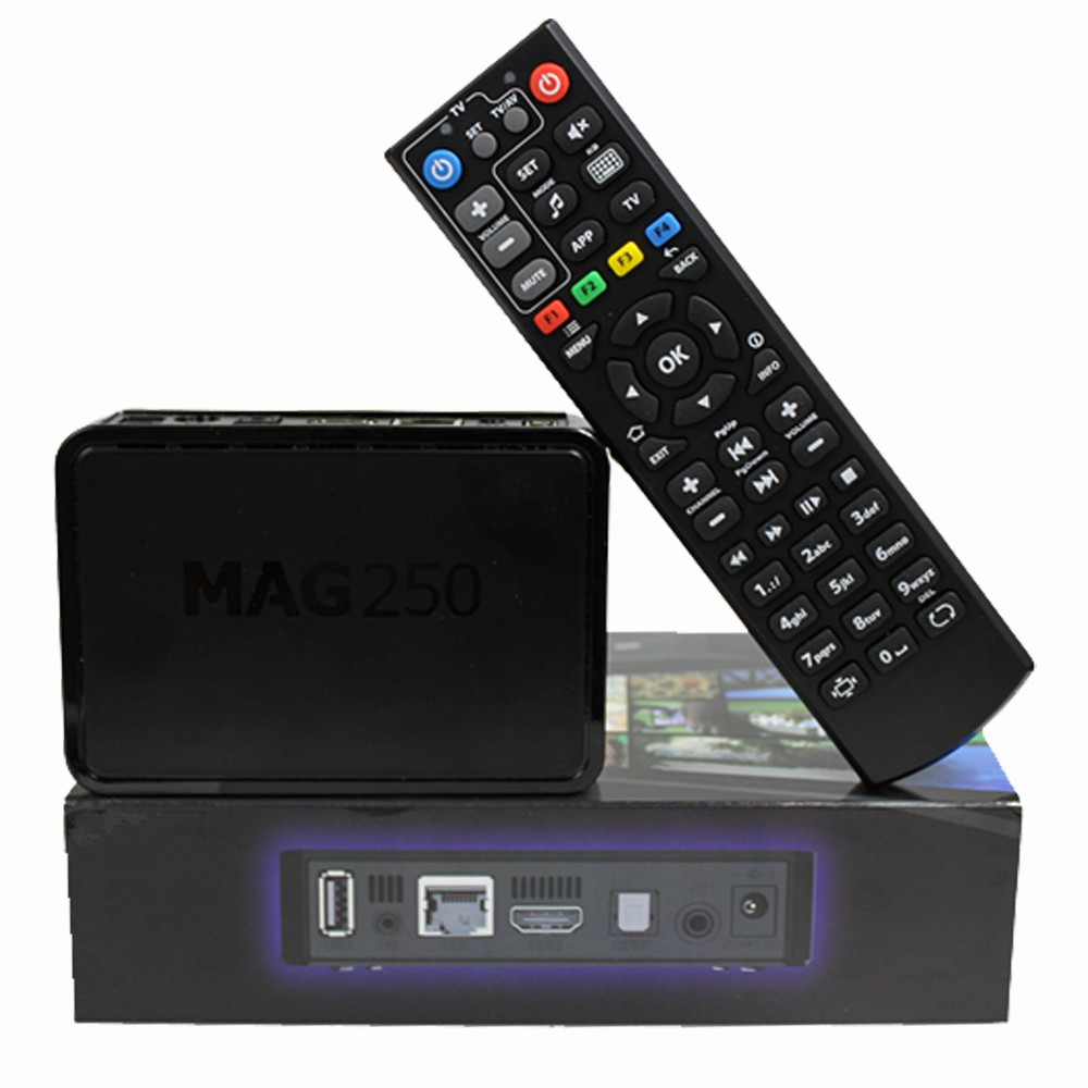 Factory direct sale 1000+ channels downloadHot iptv set top box streaming media player mag 250 hd linux 4k iptv
