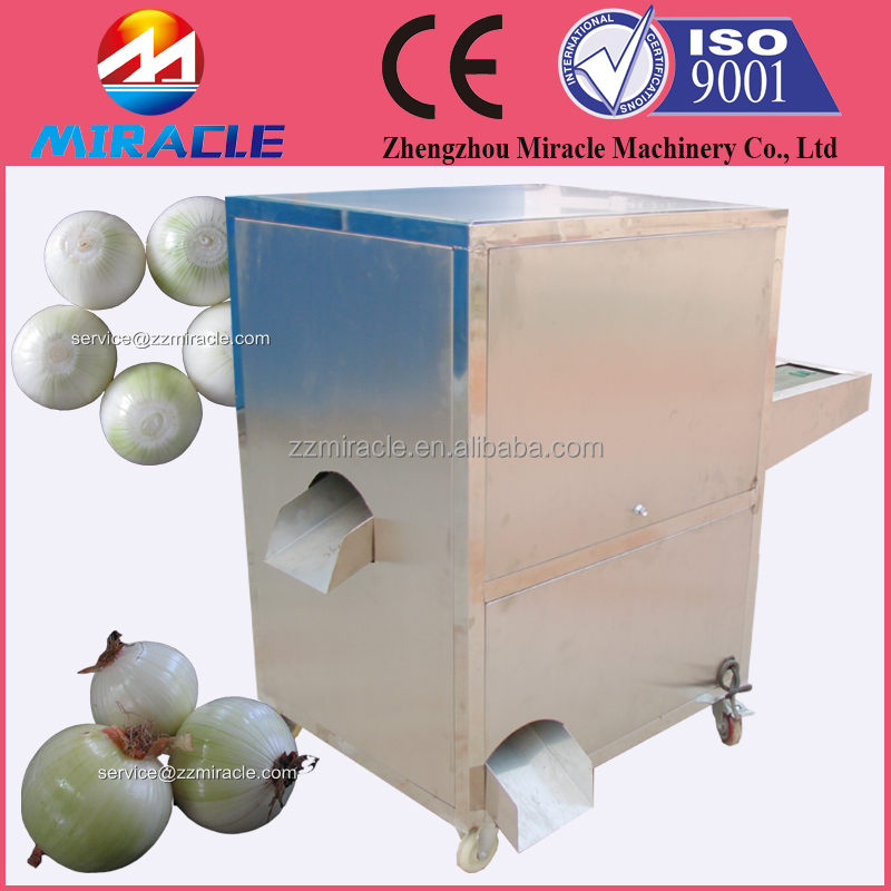 Industrial onion roots cutting machine named also onion tail cutter and remover