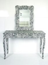 Simple, modern design zebra rectangular table