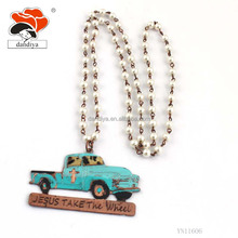 cheap wholesale popular factory price blue truck Imitation pearl jewelry necklace