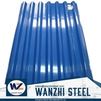 zinc color coated corrugated metal galvanized roofing sheet price per sheet