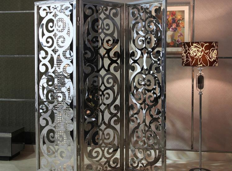 Decorative stainless steel room screens
