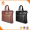 New men fashionable 13 inch pu leather waterproof tote laptop bag