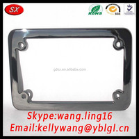 Custom Personalized Text LOGO Chromed Metal License Plate Frame, Rear Stainless Steel License Plate Frame