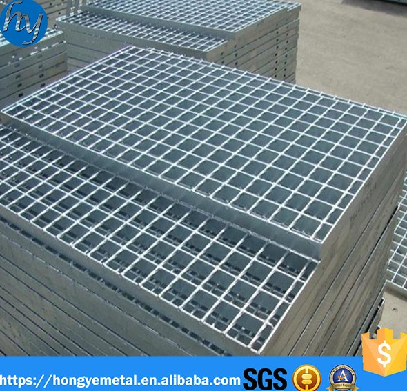 Metal Building Materials Hot Dipped 32 x 5mm Galvanized Steel Grating