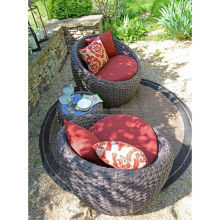 On Sale round global a pair of rattan armchair with a cocktail table royal furniture sofa set