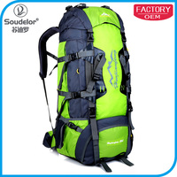 80L High quality Packable Water Resistant Handy Travel Backpack Hiking Bag with Rain cover