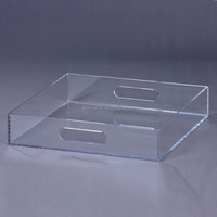 China wholesale clear lucite serving tray