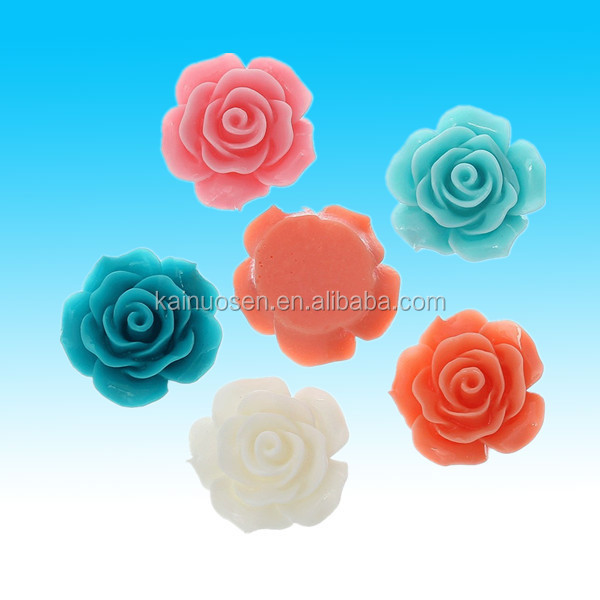colorful artificial preserved resin flowers for jewelry