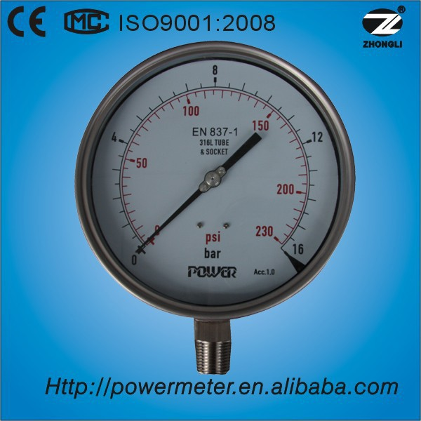 150mm all SS wika pressure gauge manometer