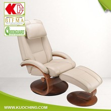 Unique Design Top Grain Cow Leather Tilting Relax Lounge Chair/Recliner Chair/Chair Recliner