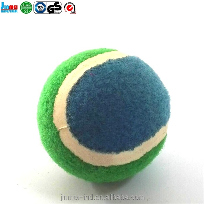 China Top-selling Mixed Colors Pet Ball Dog Products Cat Toy Pet Tennis Balls Fetch Throw Chew Dog Balls Toys JM-TB6265B
